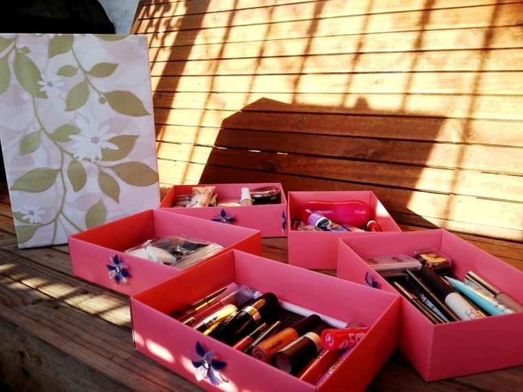 boite rangement maquillage armoire tiroirs