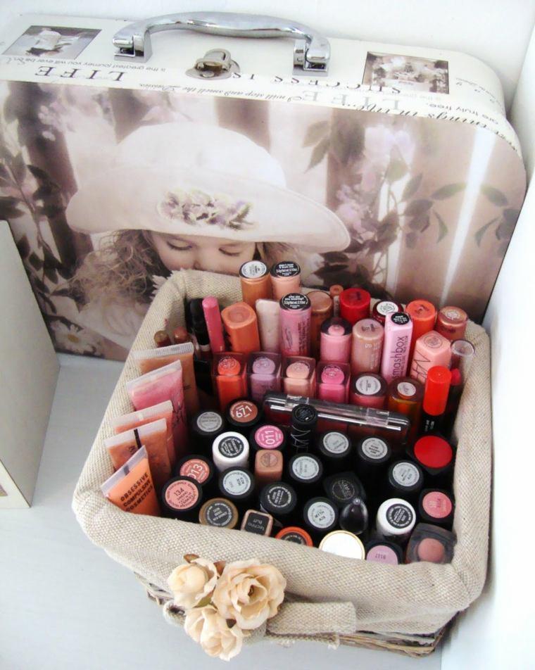 boite rangement maquillage petite caisse vintage