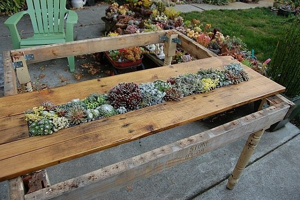 construction table jardin palette bois