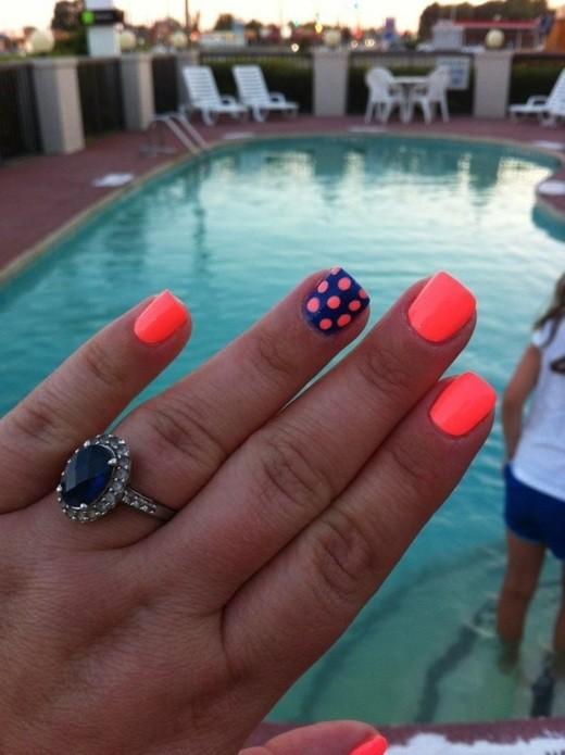 D co ongles 40 id es en couleur pour l t la maison diy - Ongle d ete ...