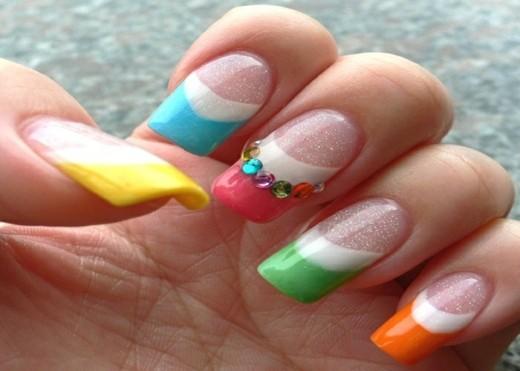 deco ongles couleurs ete