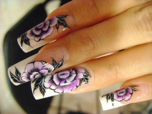 deco ongles motifs floraux