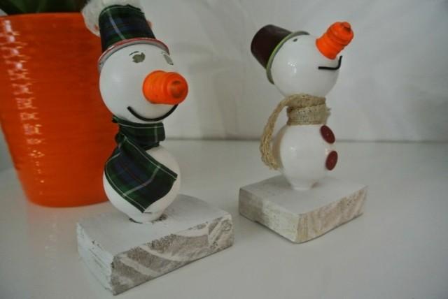 decoration DIY petits bonhommes neige