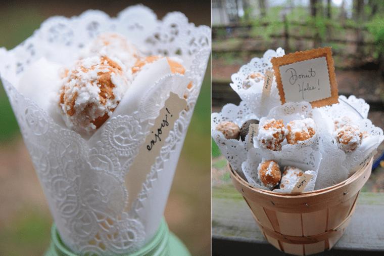 gourmandises sucrées dentelle blanche