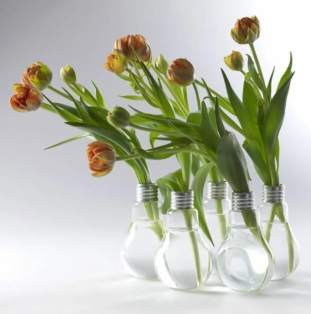 recyclage de verre petits vases