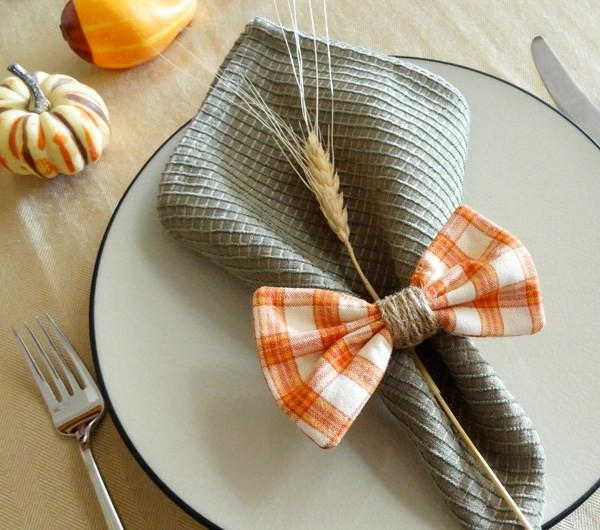 rond de serviette automnal design deco diy table