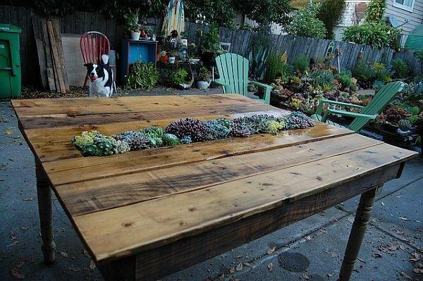 Des idée créative pour table de jardin en palette
