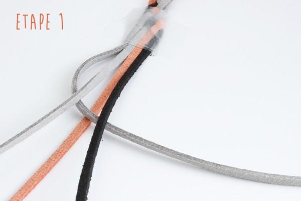 ceinture tressée en suédine
