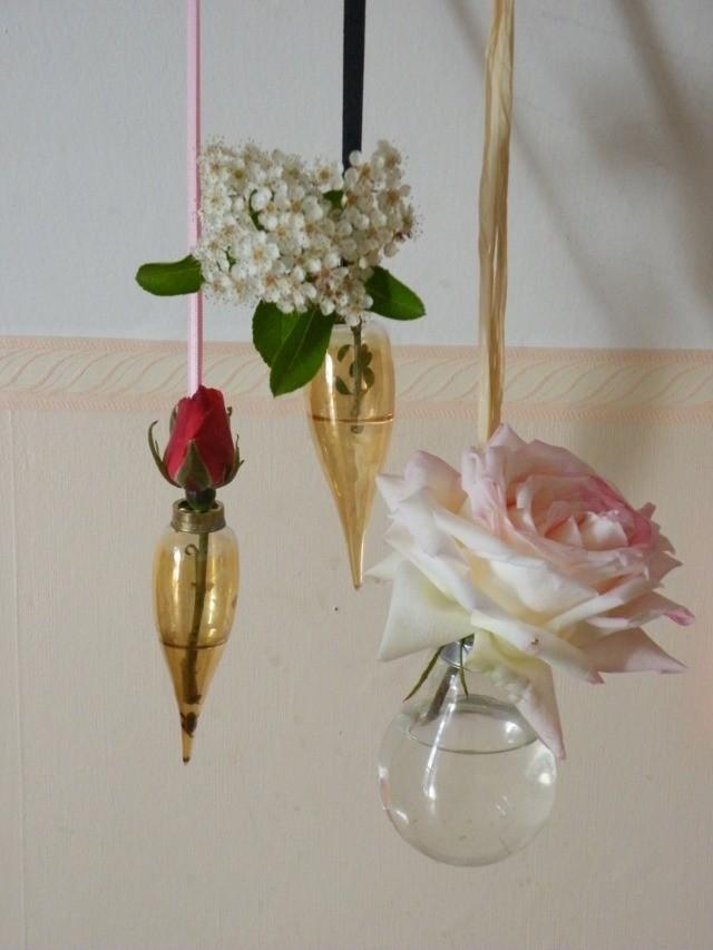 vue vases DIY suspendus