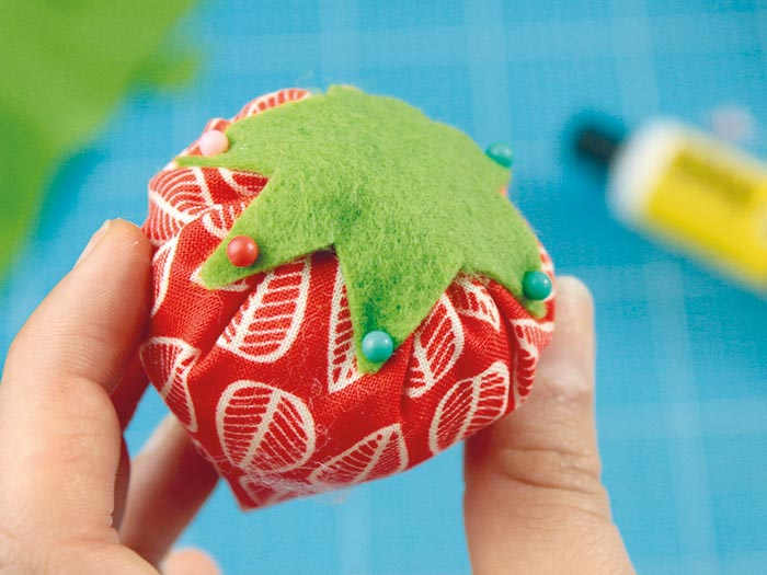 DIY fraise en tissu etape 8
