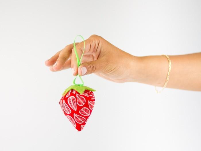 Comment coudre des fraises en tissu
