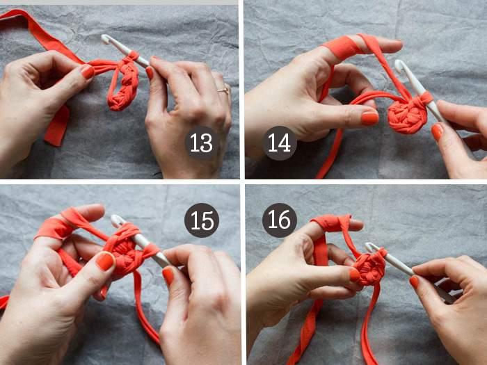 Crocheter un coquetier en Trapilho
