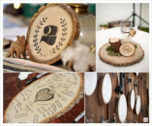 Des id es d co pour une table de mariage simple la for Idee deco table en bois