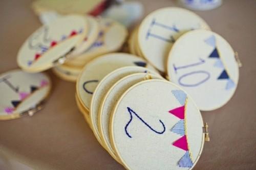 decoration numération table mariage