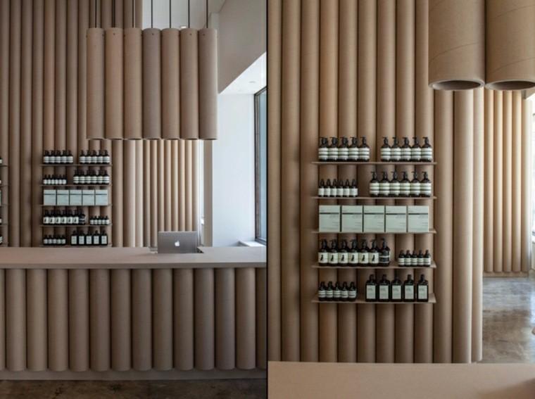 etageres tube carton