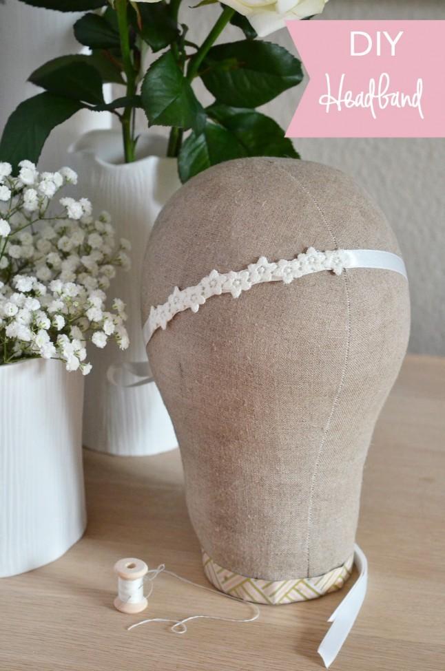 fabriquez un joli headband de mariée facile