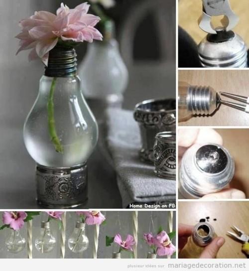 idees deco mariage vase fleurs diy