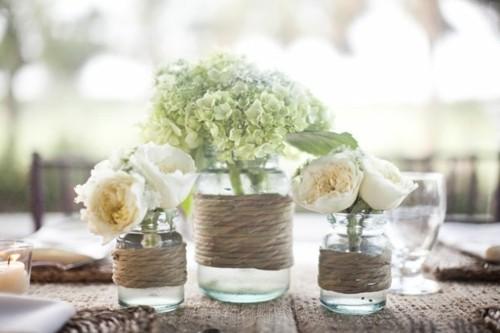 mariage centre table DIY