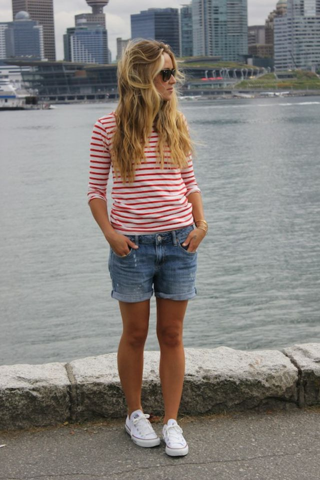 mariniere short jean