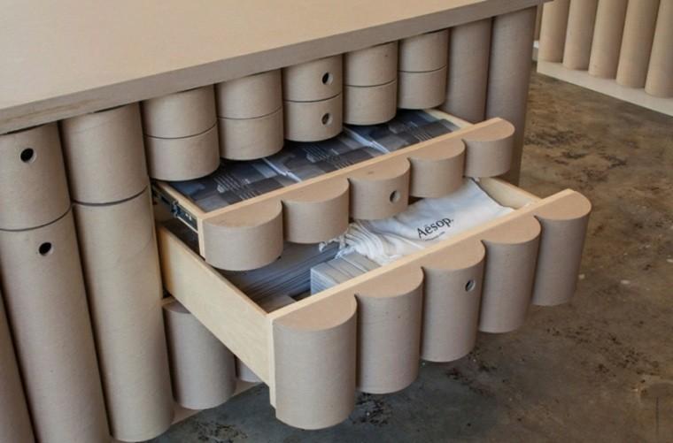 mobilier en carton tiroir en carton