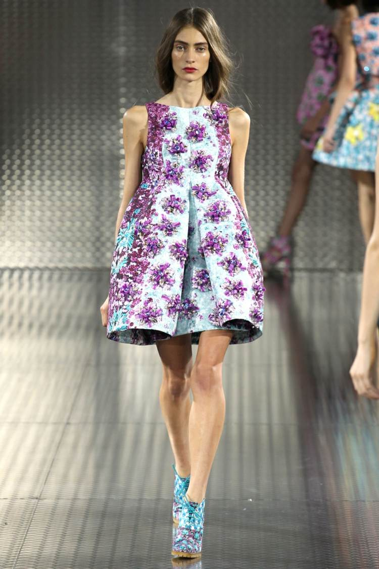 robe dété florale courte Mary-Katrantzou