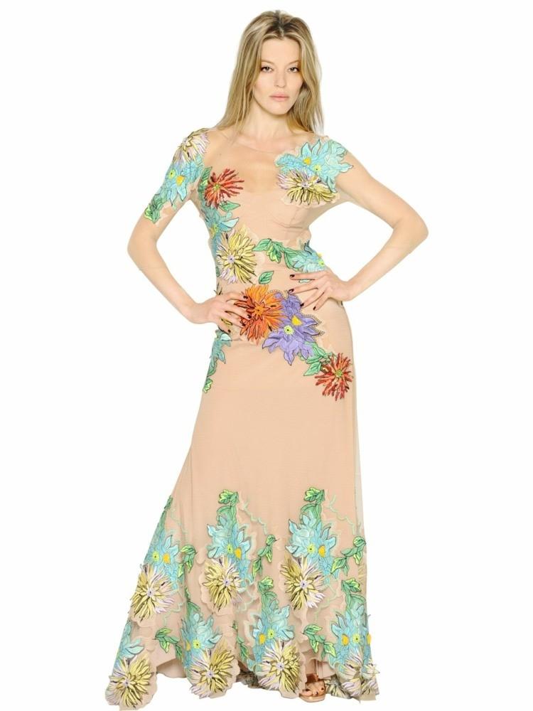 robe dété florale longue Bluemarine