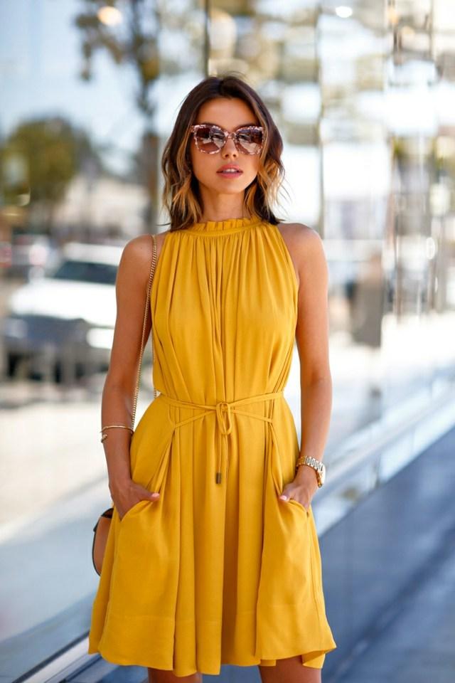 robe d-ete femme jaune pastel banana republic