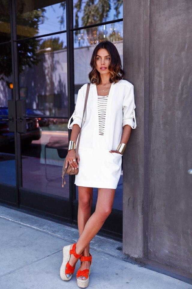 robe ete femme blanche iro odrianne crepe chaussures celine-vivaluxury