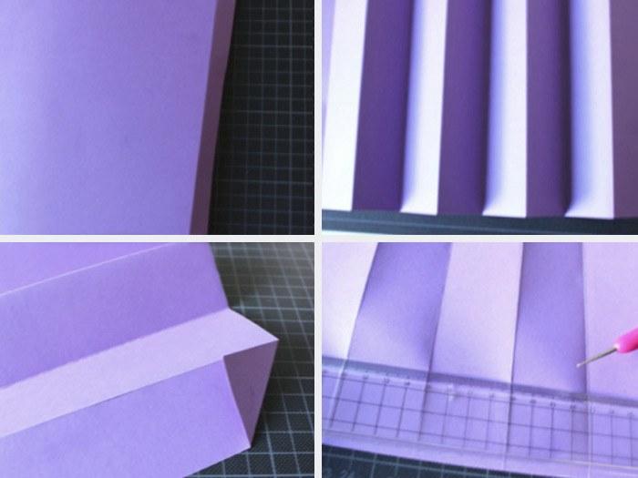 Lampe origami etape 1