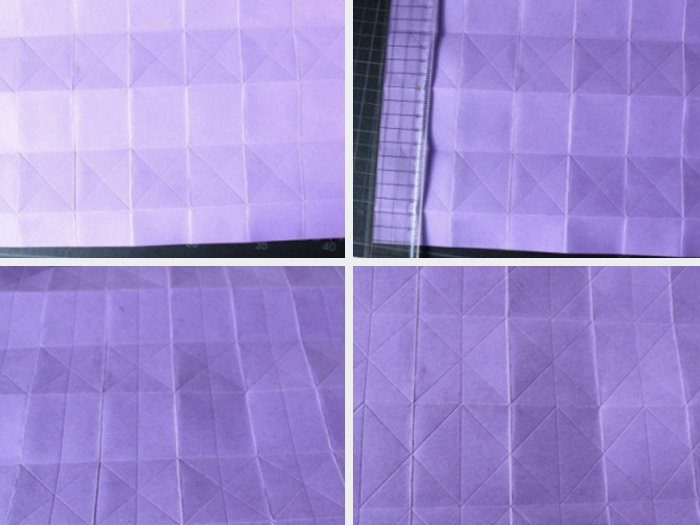 Lampe origami etape 2