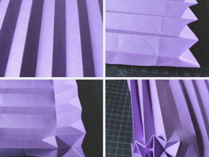 Lampe origami etape 3
