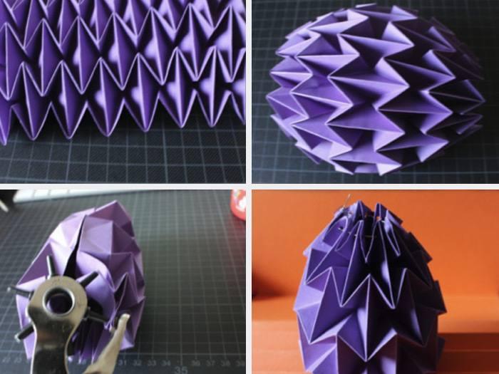 Lampe origami etape 4