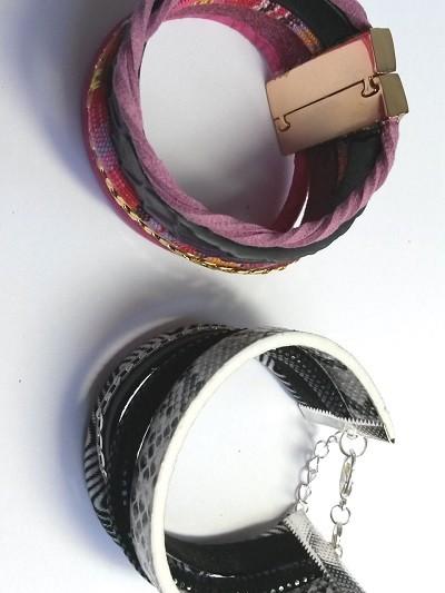 Bracelet Multi cuir Etape4