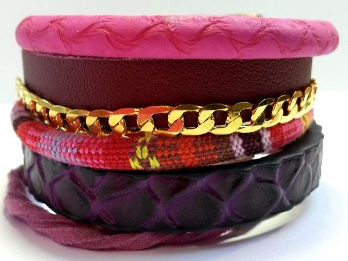 Créez un bracelet manchette multi-cuir