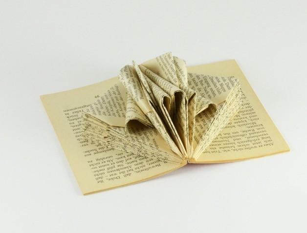Recyclez vos vieux livres la maison diy - Pliage de livres de poche ...