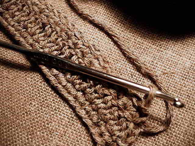 bracelet en crochet etape 1