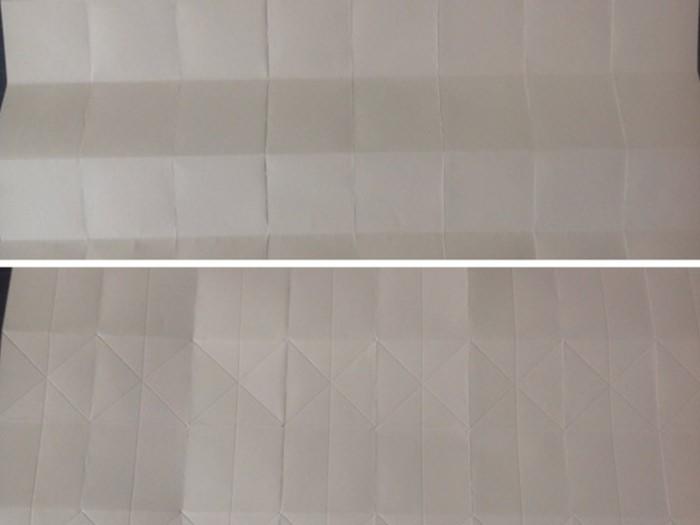 cache pot en papier Origami