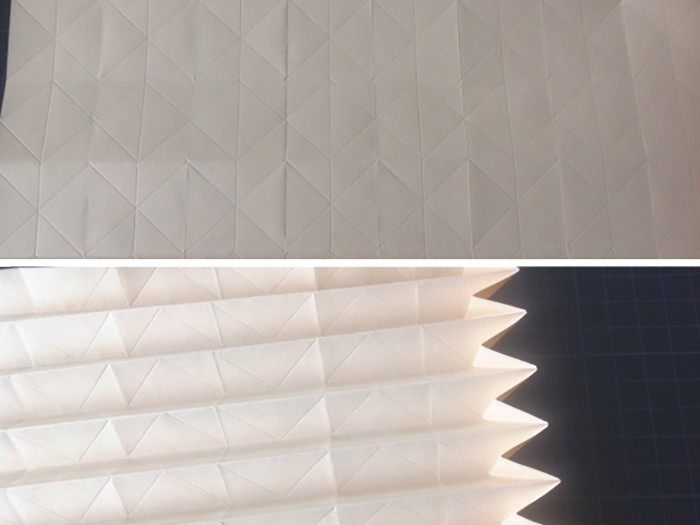cache pot en papier Origami etape 1