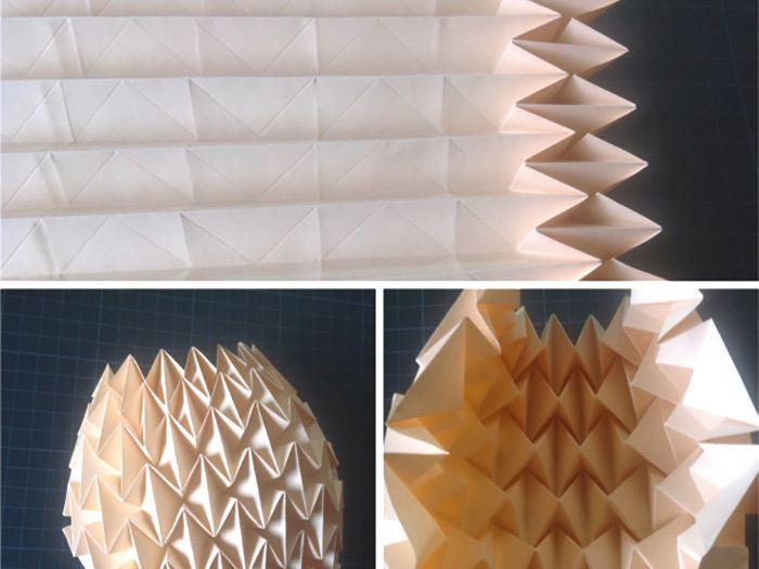 cache pot en papier Origami etape 2