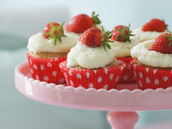 Recette : Cupcakes aux fraises juteuses