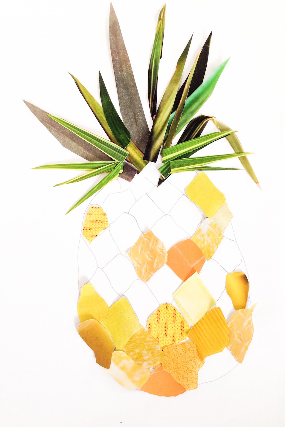 diy collage ananas etape 3