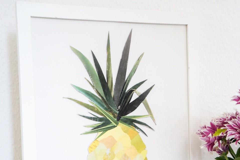 diy collage ananas etape 5