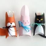 Les emballages de cadeau en forme d'animaux