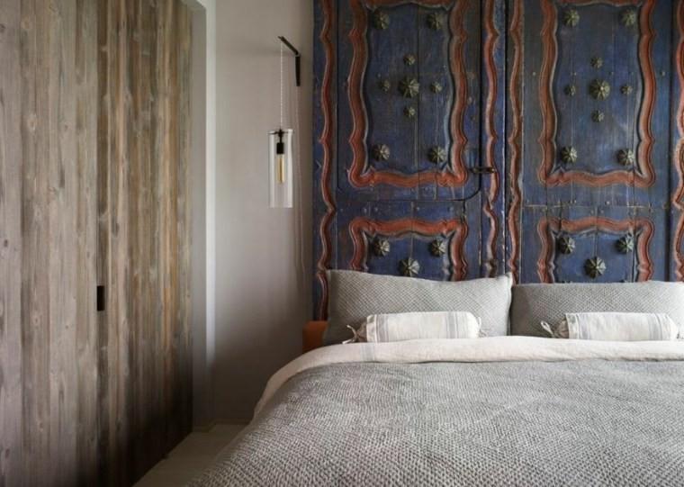 Fabriquer une t te de lit en bois avec une porte la - Tete de lit porte ...