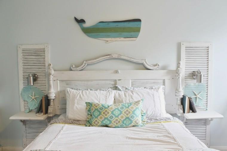 Fabriquer une t te de lit en bois avec une porte la - Fabriquer tete de lit originale ...