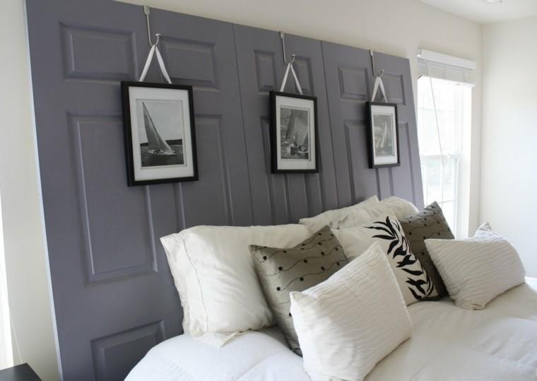 Fabriquer une t te de lit en bois avec une porte la maison diy - Faire tete de lit ...