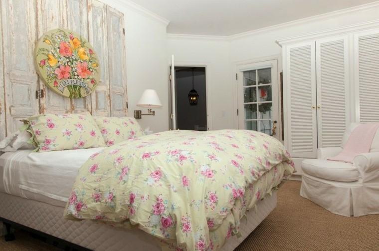 fabriquer une tete de lit en bois style shabby chic