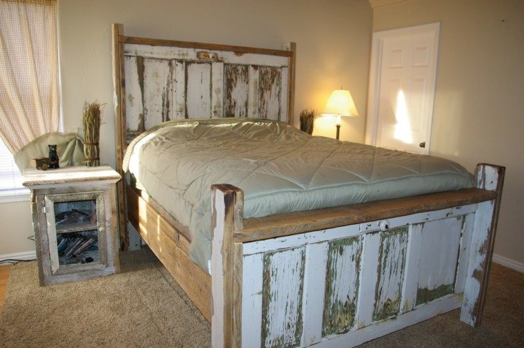 fabriquer une t te de lit en bois avec une porte la maison diy. Black Bedroom Furniture Sets. Home Design Ideas
