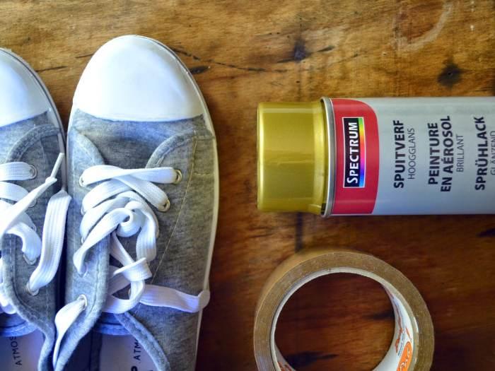 sneakers dores etape 1