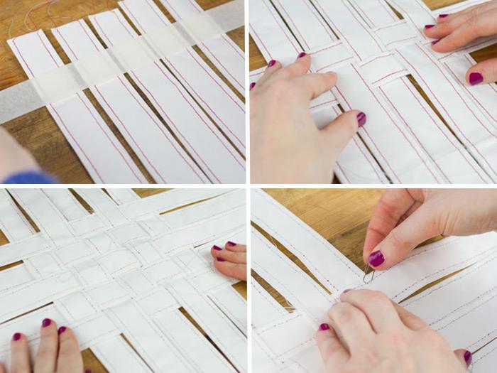 tisser une corbeille en papier etape 6